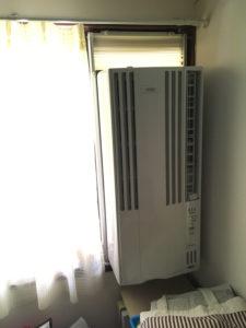 コロナ 窓用エアコン 設置後